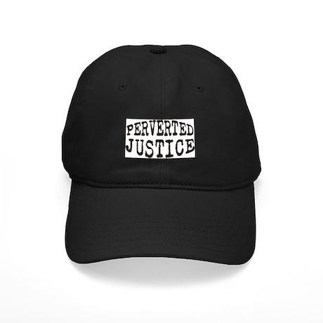 Black Perverted-Justice.com Baseball Cap