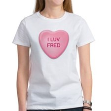 I Luv FRED Candy Heart Tee