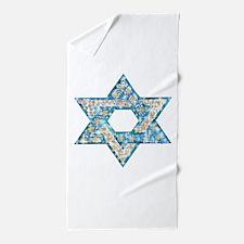 Gems and Sparkles Hanukkah Beach Towel