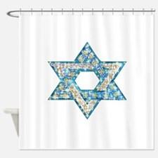 Gems and Sparkles Hanukkah Shower Curtain
