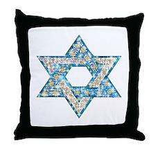 Gems and Sparkles Hanukkah Throw Pillow