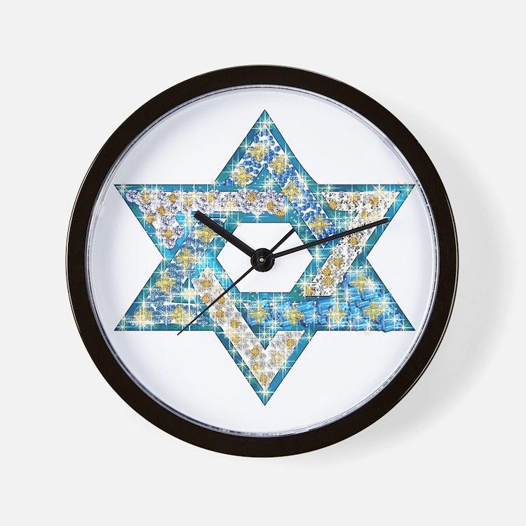 Gems and Sparkles Hanukkah Wall Clock