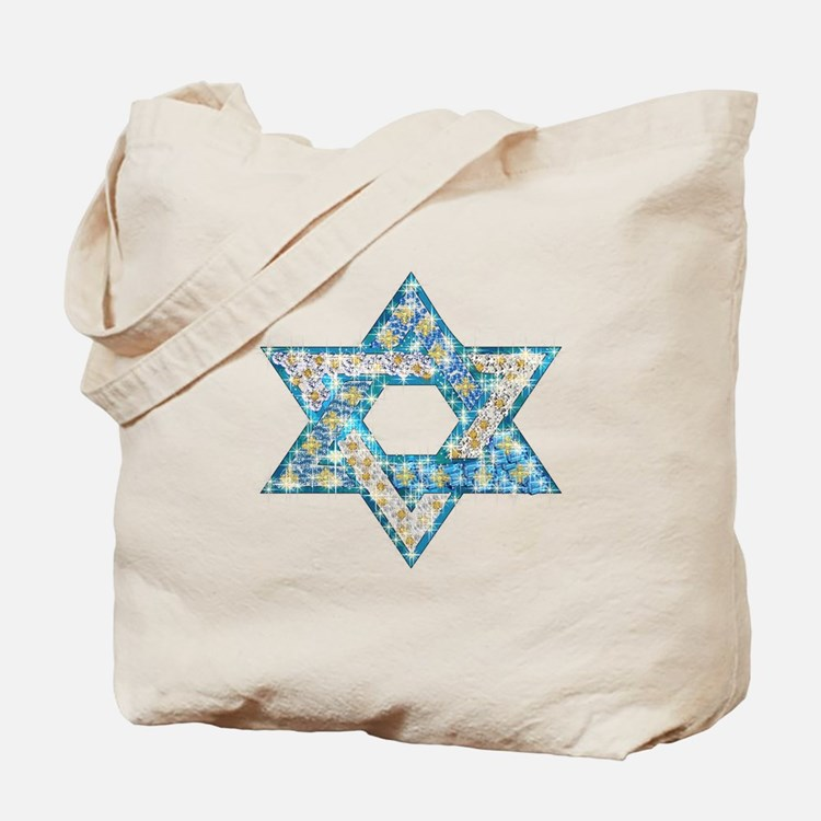 Gems and Sparkles Hanukkah Tote Bag