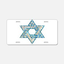 Gems and Sparkles Hanukkah Aluminum License Plate