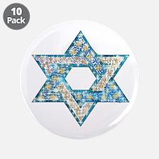 "Gems and Sparkles Hanukkah 3.5"" Button (10 pack)"