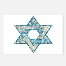 Gems and Sparkles Hanukkah Postcards (Package of 8