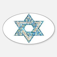 Gems and Sparkles Hanukkah Sticker (Oval)