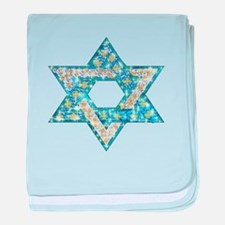 Gems and Sparkles Hanukkah baby blanket