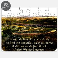 Though We Travel The World Over - Emerson Puzzle