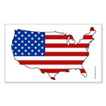 American Nation Rectangle Sticker