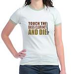 Bass Clarinet:Touch/Die Jr. Ringer T-Shirt