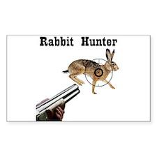 Rabbit Hunter Rectangle Decal