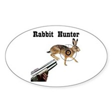 Rabbit Hunter Oval Decal