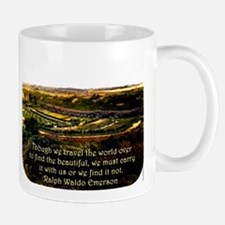 Though We Travel The World Over - Emerson Mug