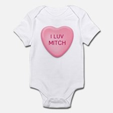 I Luv MITCH Candy Heart Infant Bodysuit