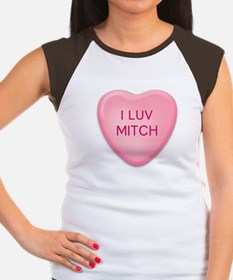 I Luv MITCH Candy Heart Women's Cap Sleeve T-Shirt