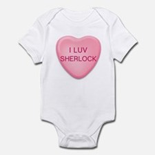 I Luv SHERLOCK Candy Heart Infant Bodysuit