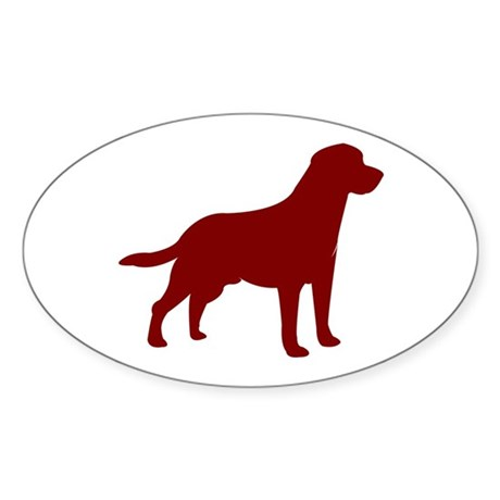 Just Lab (Red) Oval Sticker