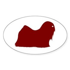 Just Lhasa Apso (Red) Oval Decal
