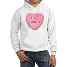 I Luv JAMES Candy Heart Hoodie