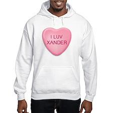 I Luv XANDER Candy Heart Hoodie