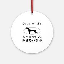 Adopt A Pharaoh Hound Dog Ornament (Round)