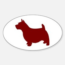 Just Norwich (Red) Oval Decal