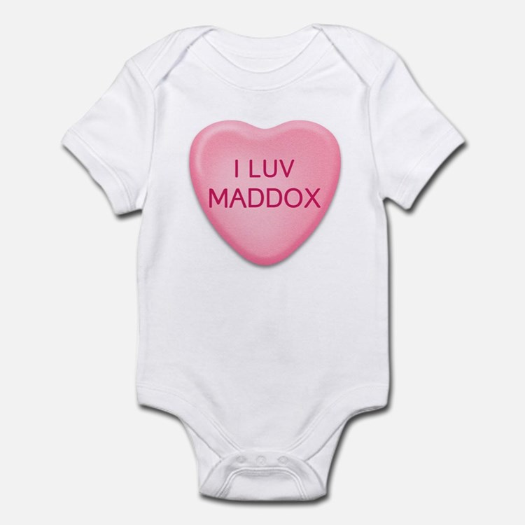 I Luv MADDOX Candy Heart Infant Bodysuit
