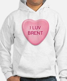 I Luv BRENT Candy Heart Hoodie