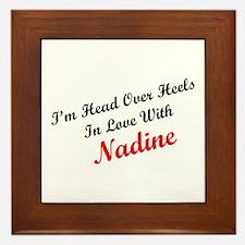In Love with Nadine Framed Tile