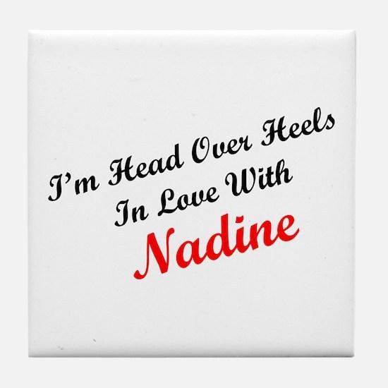 In Love with Nadine Tile Coaster