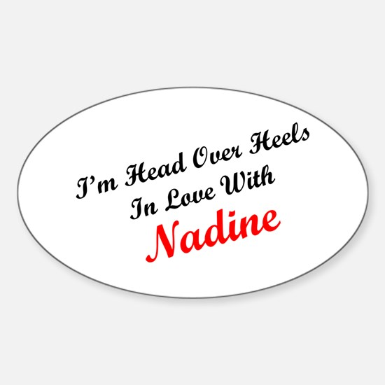 In Love with Nadine Oval Decal