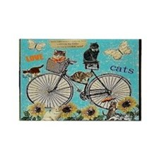 Love Cats Rectangle Magnet