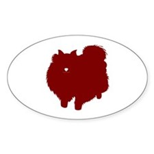 Just Pomeranian (Red) Oval Decal