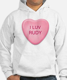 I Luv RUDY Candy Heart Hoodie