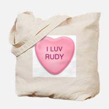I Luv RUDY Candy Heart Tote Bag