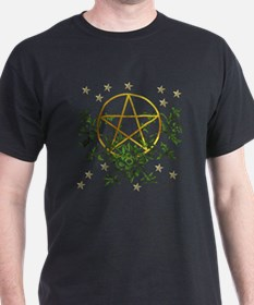 Wiccan Pentacle and Greens T-Shirt