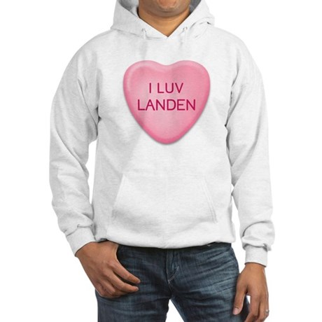 I Luv LANDEN Candy Heart Hooded Sweatshirt