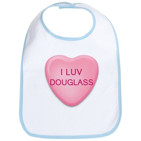 I Luv DOUGLASS Candy Heart Bib