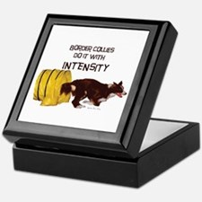 Border Collie intensity Keepsake Box