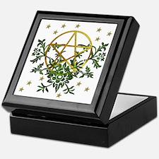 Wiccan Pentacle and Greens Keepsake Box