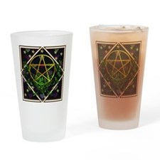 Wiccan Pentacle and Greens Drinking Glass