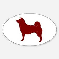 Just Shiba Inu (Red) Oval Decal