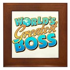 World's Greatest Boss Framed Tile