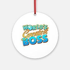 World's Greatest Boss Ornament (Round)