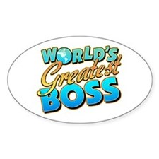 World's Greatest Boss Oval Stickers