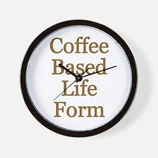 Coffee Based Life Form Wall Clock