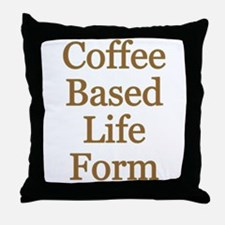 Coffee Based Life Form Throw Pillow