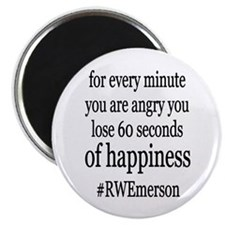 "Emerson Happiness Quote 2.25"" Magnet (10 pack)"