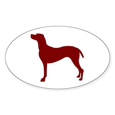 Just Vizsla (Red) Oval Sticker